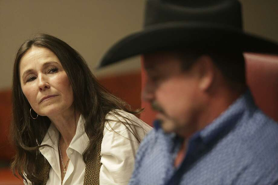 Laura Barker, the grandmother of Ryland Ward, 5, and Ryland's great uncle, Earl McMahan, describe Ryland's recovery at University Hospital from the massacre that killed 26 people at First Baptist Church in Sutherland Springs last month. Ryland was shot five times. Photo: SAN ANTONIO EXPRESS-NEWS /SAN ANTONIO EXPRESS-NEWS / SAN ANTONIO EXPRESS-NEWS