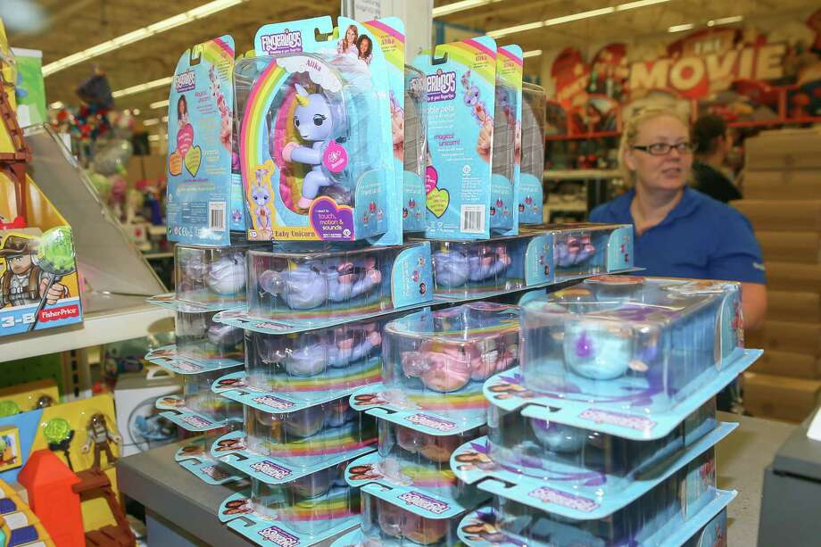 Clingy robotic monkeys and unicorns are the toy of the year, vanishing from shelves almost as quickly as they appear. They follow the popularity of 2016's Hatchimal, which Jennifer Jordan purchased last year for twice the price on eBay as supplies dwindled. Photo: Leslie Plaza Johnson, Freelancer / Freelance