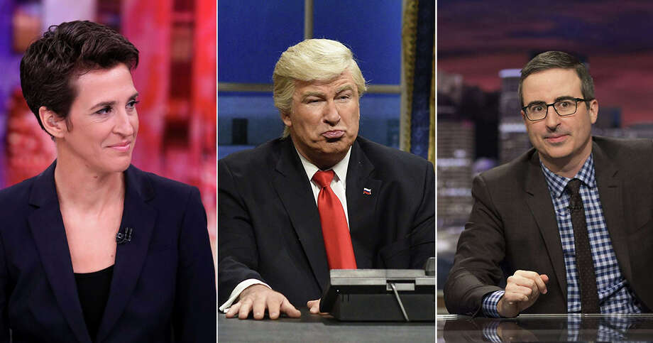 """The most important media figures today include people like Rachel Maddow and John Oliver. Not to mention Donald Trump, providing fodder for shows like """"Saturday Night Live."""""""
