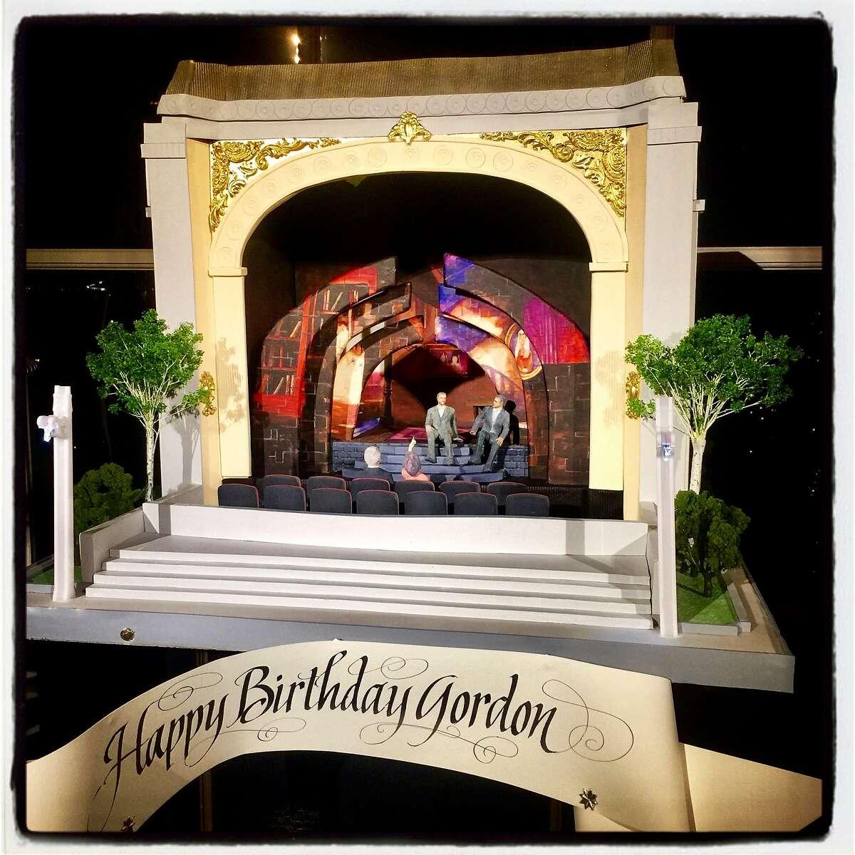 Sam Godfrey's Perfect Endings' cake for Gordon Getty's 84th birthday. Dec. 16, 2017.