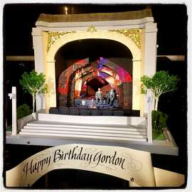 Sam Godfrey's Perfect Endings' cake for Gordon Getty's 84th birthday. Dec. 16, 2017.