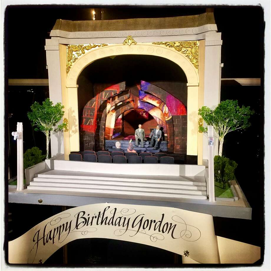 Gordon Getty's birthday cake by Sam Godfrey of Perfect Endings, for Getty's 84th birthday Dec. 16, 2017. Photo: Catherine Bigelow, Special To The Chronicle