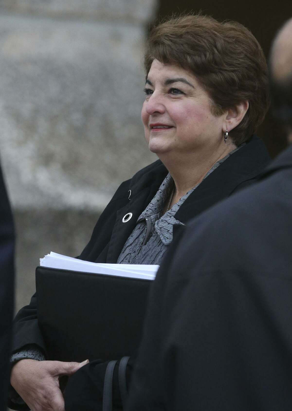 Former SAISD trustee Olga Hernandez said at her bribery trial that she thought of gifts she received from an insurance broker and his associates seeking business from the district as favors from friends.