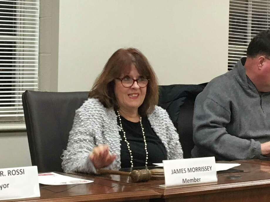Rosemary Russo takes her seat after being unanimously elected chairwoman of the West Haven Board of Education Monday. Photo: Mark Zaretsky / Hearst Connecticut Media