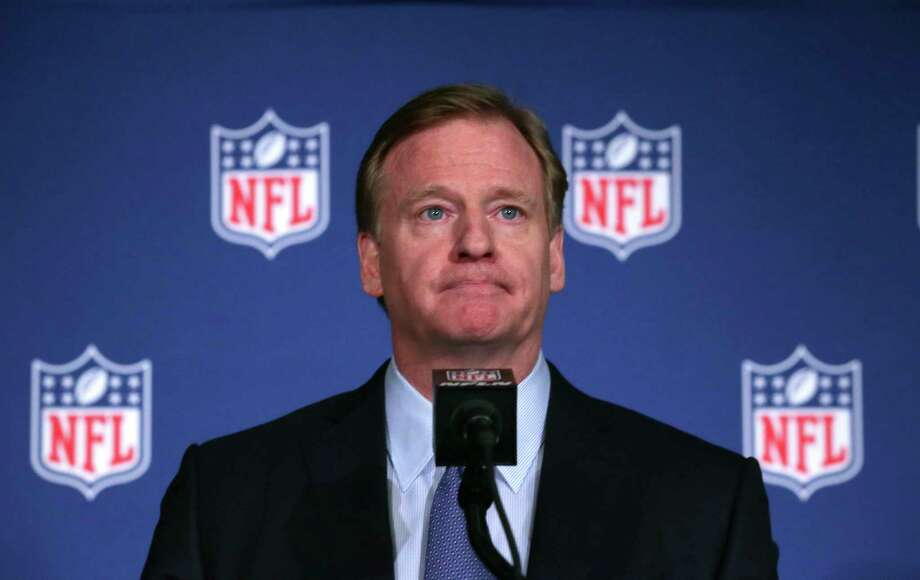 NLF Commissioner Roger Goodell listens to a question during a news conference after the NFL owners winter meeting in Irving, Texas, Wednesday, Dec. 13, 2017. (AP Photo/LM Otero) ORG XMIT: TXMO108 Photo: LM Otero / Copyright 2017 The Associated Press. All rights reserved.