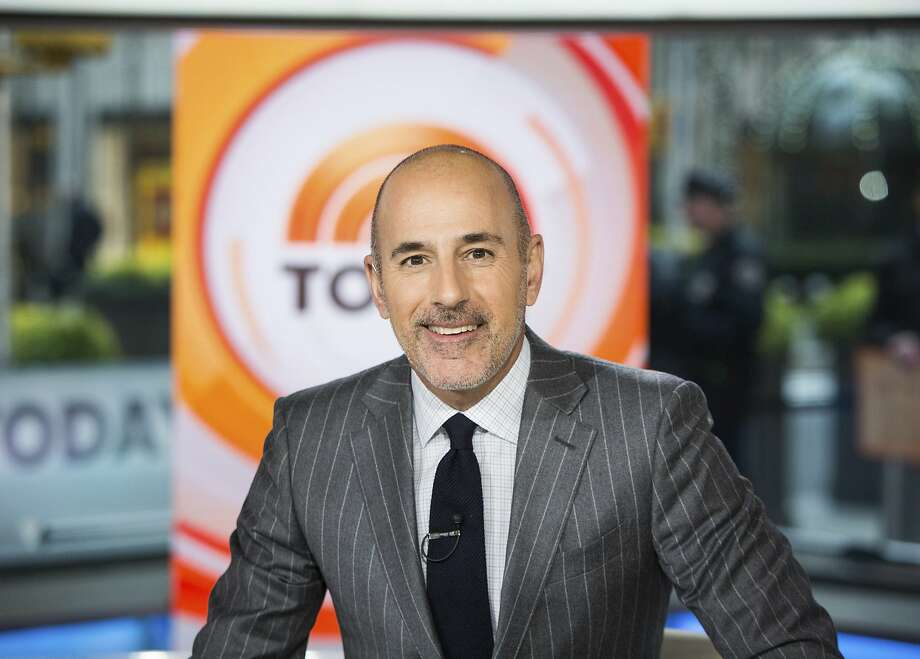 """This Nov. 8, 2017 photo released by NBC shows Matt Lauer on the set of the """"Today"""" show in New York. On the week host Matt Lauer was fired because of sexual misconduct charges, NBC's """"Today"""" show beat its rivals at ABC for the first time in three months. (Nathan Congleton/NBC via AP) Photo: Nathan Congleton, Associated Press"""