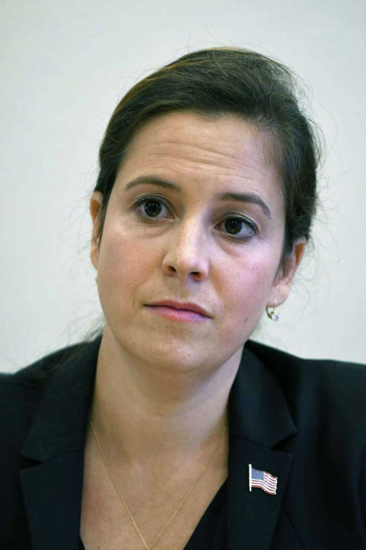FILE. Letter writer says U.S. Rep. Elise Stefanik must be held as responsible as President Donald Trump until she condemns the president's role in the violence. (Will Waldron/Times Union)