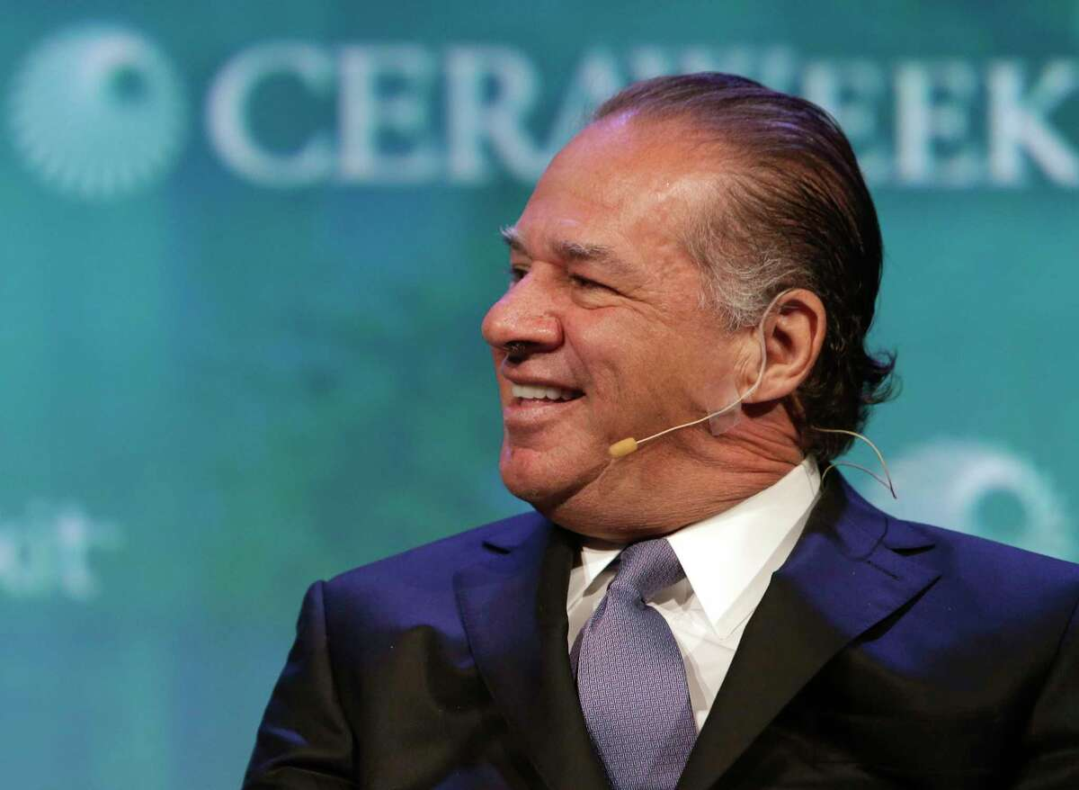 Charif Souki, chairman of Tellurian, speaks during CERAWeek by IHS Markit earlier this year in Houston.