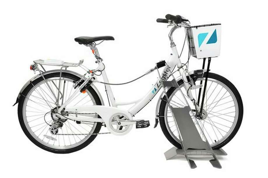 The Zagster cruiser model is used by the Bike Midland program, which features an adjustable seat, automatic front and rear lights, Bluetooth electronic ring lock, seven gears, fenders and a chain guard. (Photo courtesy of Zagster)