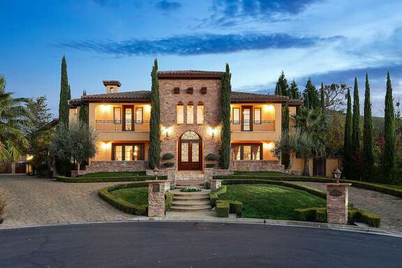 The Tuscan home built in 2007 sits on nearly an acre in Alamo.