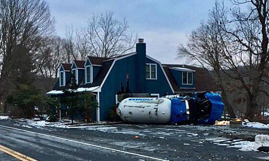Electri Cable Assemblies Shelton Ct : Fully loaded propane truck overturns monroe driver cited