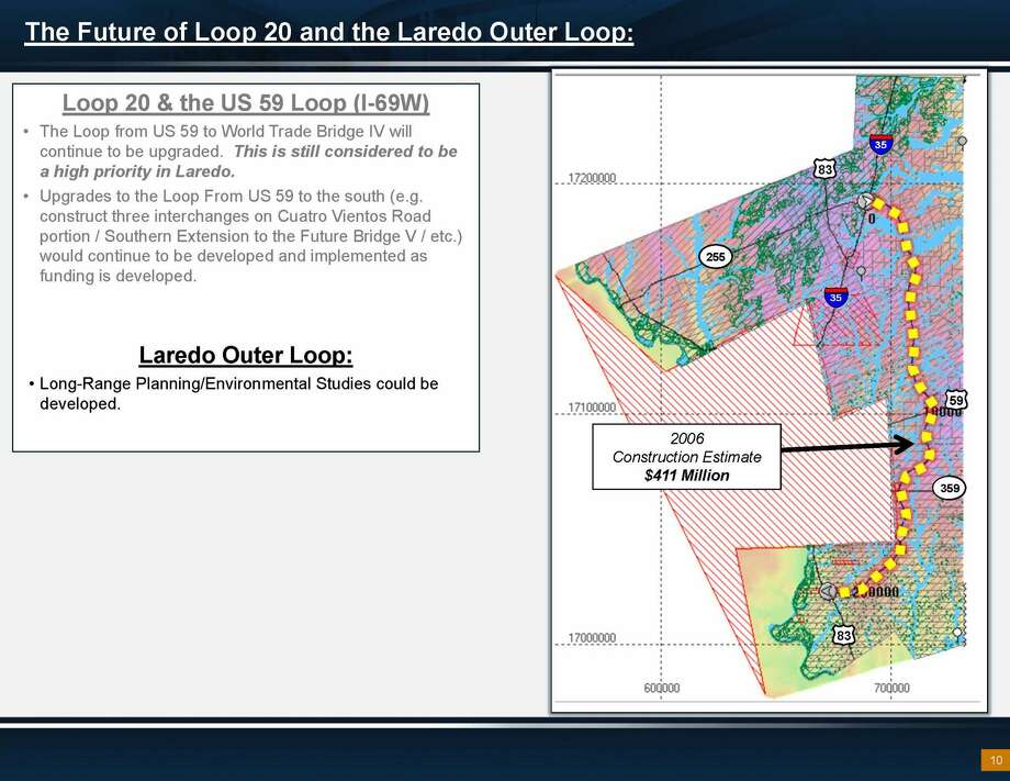 The proposed outer loop project runs through Webb County and is concentric to Loop 20. Photo: Texas Department Of Transportation/Courtesy