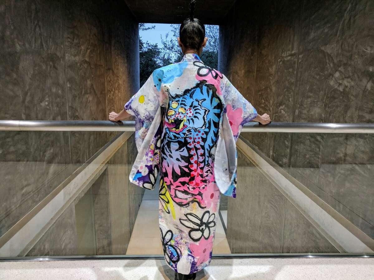 Kimono Zulu Artist Collaboration -Dancing Flowers by Elijah Coccetti $700