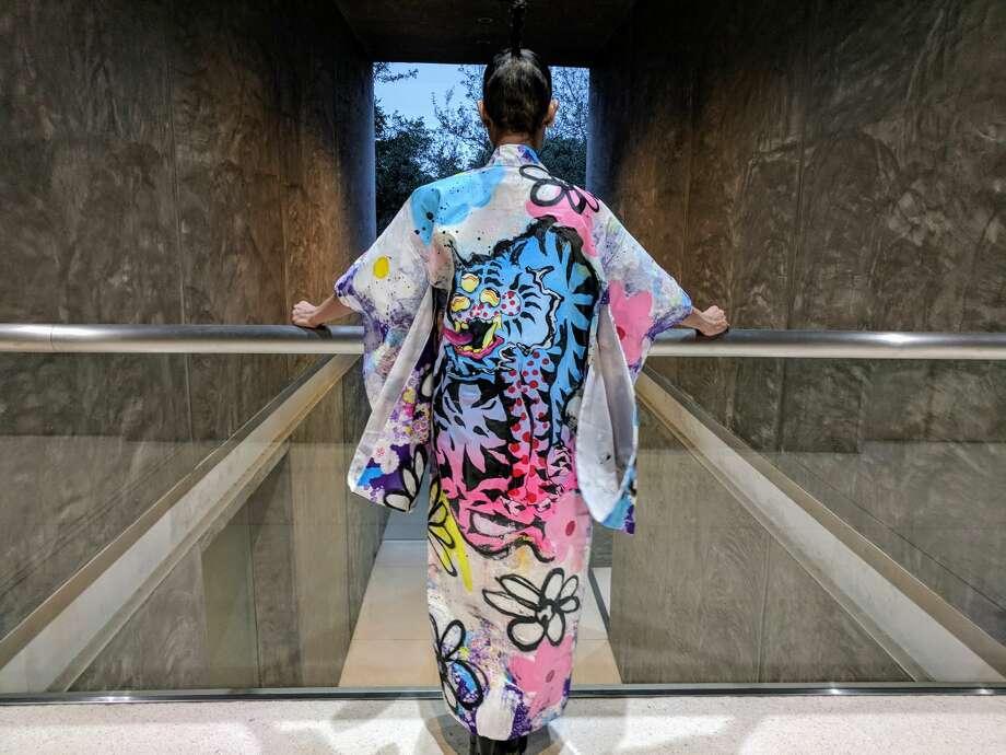 Kimono Zulu Artist Collaboration -Dancing Flowers by Elijah Coccetti $700 Photo: Kimono Zulu