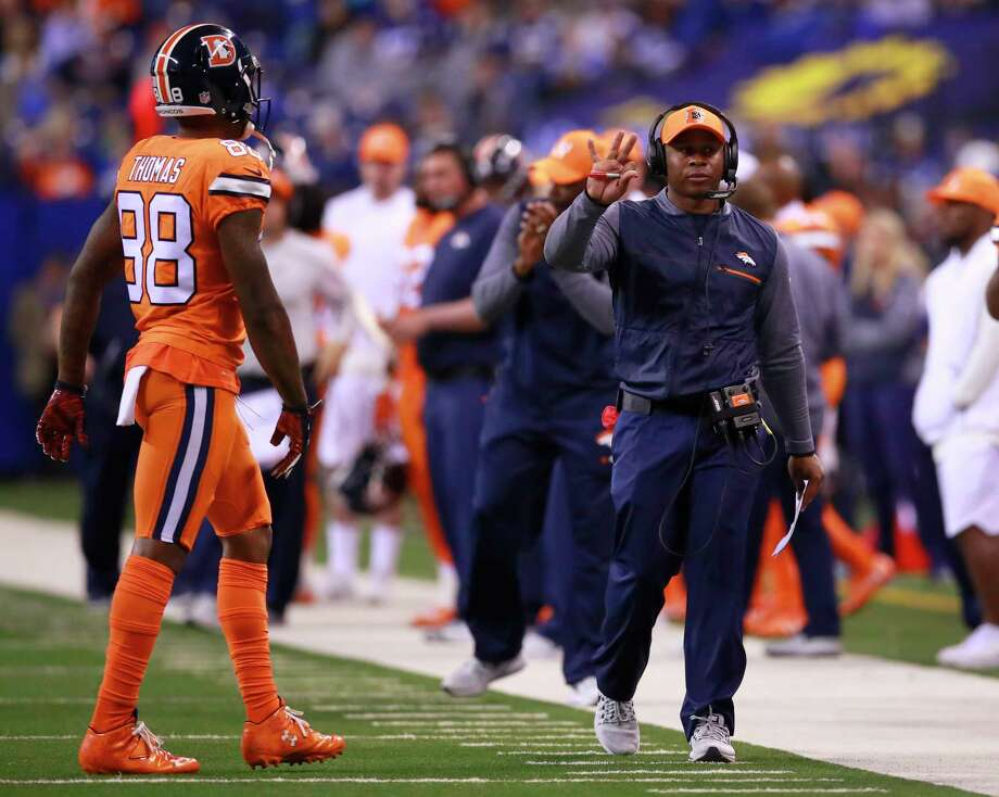 Broncos coach Vance Joseph said on Wednesday that his team's quarterback situation needs to be upgraded. Photo: Associated Press / Panini