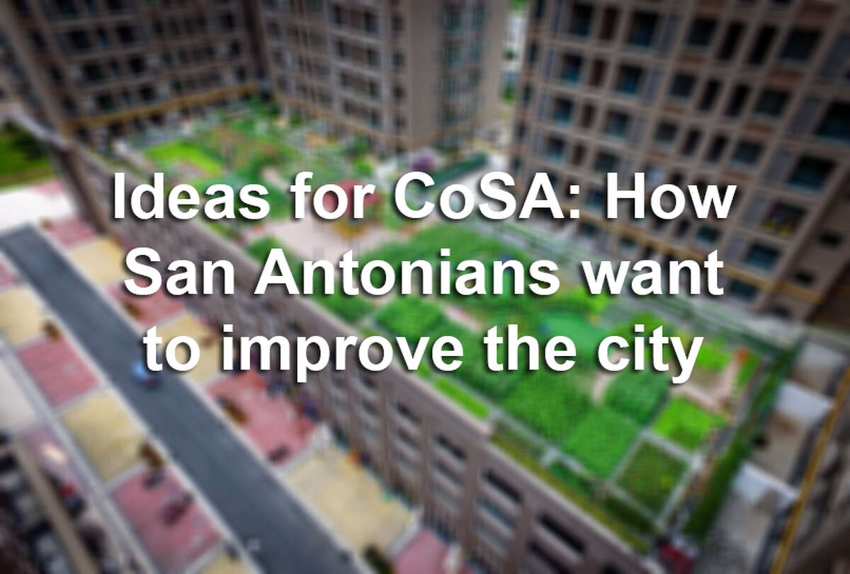 From rooftop gardens to a high-speed train connecting Texas' major cities, see the ideas San Antonians have to improve the Alamo City.