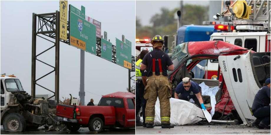 Five-vehicle collision on 610 North Loop leaves one dead - Houston
