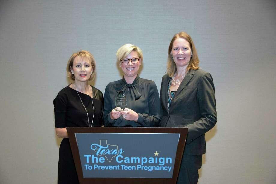 From left: Kelly McBeth, Texas Campaign Board Chair; Rep. Sarah Davis; Dr. Gwen Daverth, Texas Campaign President/CEO Photo: Courtesy Photo