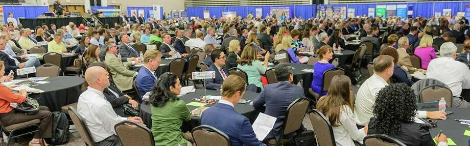 Members of the Mobil Steel team participate in the Economic Alliance Houston Port Region's Gulf Coast Industry Forum. Photo: Courtesy Photo / Kim Christensen