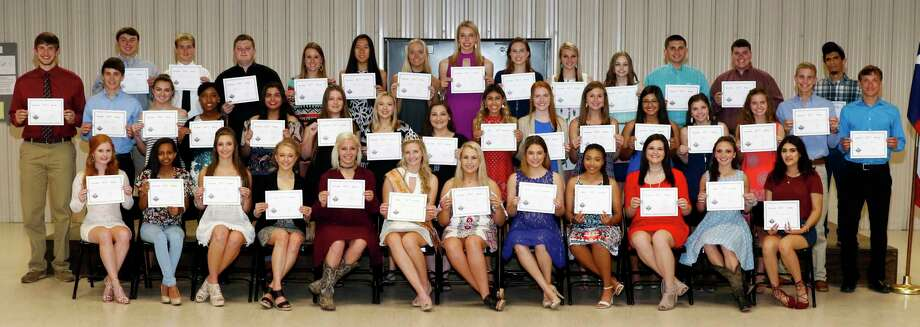 The Fort Bend County Fair Association awards scholarships in 2017 to these students. Photo: Fort Bend County Fair Association / 2016_BigTexasDesigns.com