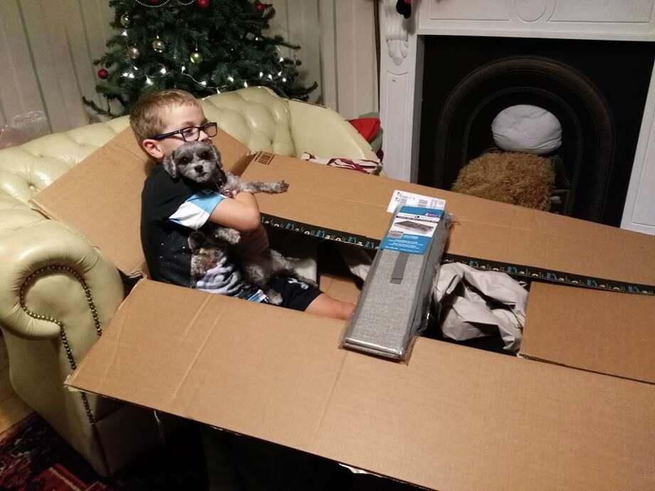 Click through this slideshow to see SFGate-reader submitted photos of excessive packaging fails.Pictured: A small organizer (child and dog were not included in the shipment). Photo: Bryony Puplet