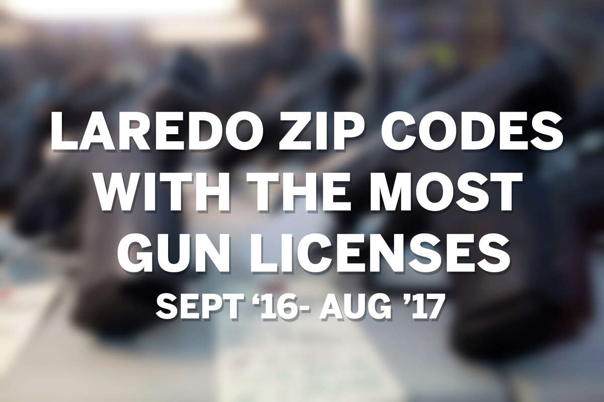 Click through this gallery to see the Laredo Zip Codes with the most gun licenses issued from Sept. 2016 to Aug. 2017