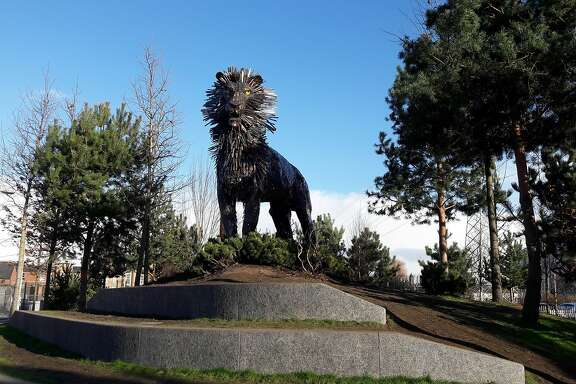 Aslan the lion is among six sculptures of characters from the book �The Lion, the Witch and the Wardrobe� in C.S. Lewis Square.