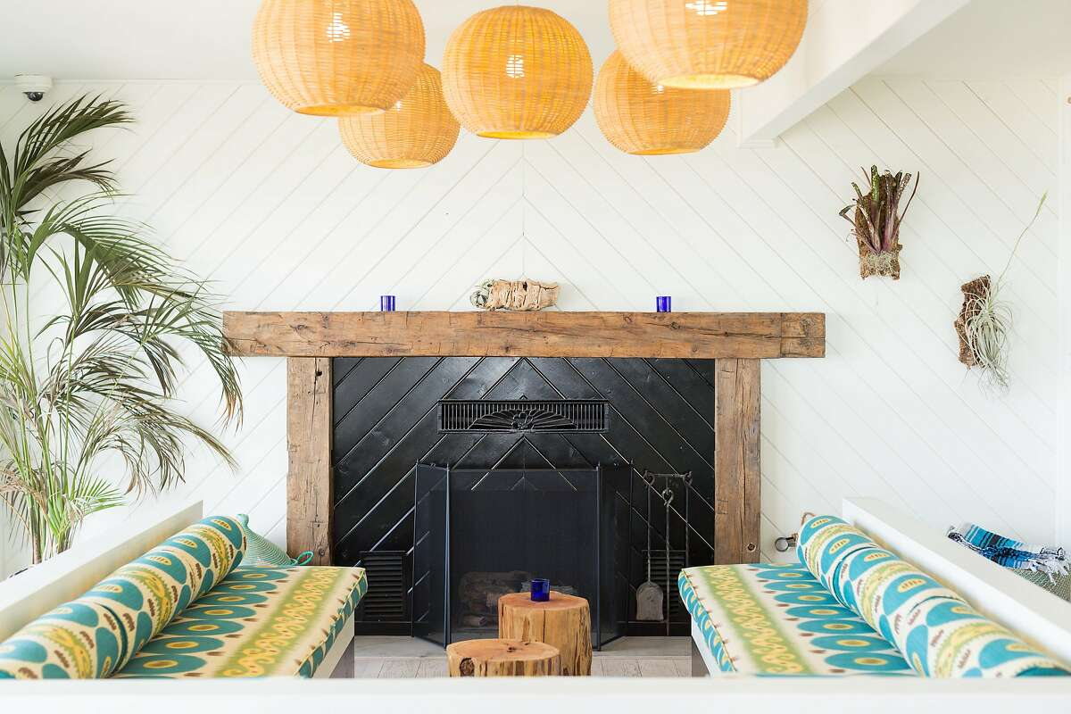 The newly renovated and renamed Cambria Beach Lodge features a coastal color palette.