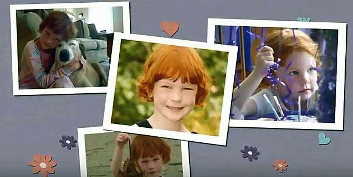 Images of Catherine Violet Hubbard from a video about plans to build an animal sanctuary in Newtown.