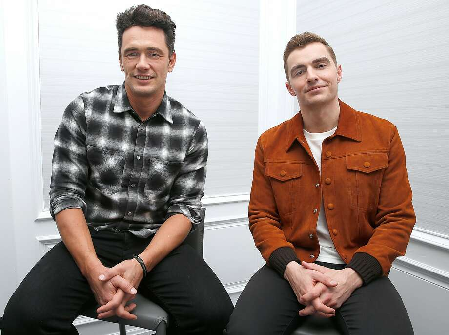 "Actor and director James Franco (left) and his actor brother Dave Franco both star in ""The Disaster Artist."" Photo: Liz Hafalia, The Chronicle"