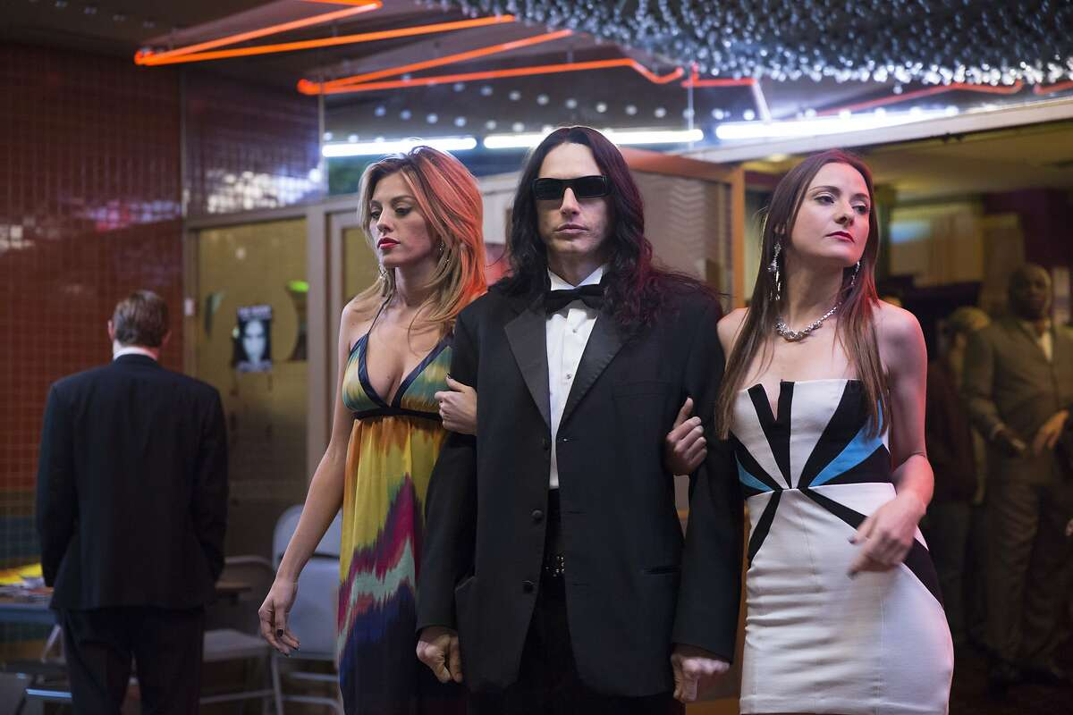 """This image released by A24 shows James Franco in a scene from """"The Disaster Artist."""" On Wednesday, Dec. 13, 2017, Franco was nominated for a screen Actors Guild Award for male actor in a leading role in a motion picture. The SAG Awards will air live on Sunday, Jan. 21 on TNT and TBS. (Justina Mintz/A24 via AP)"""