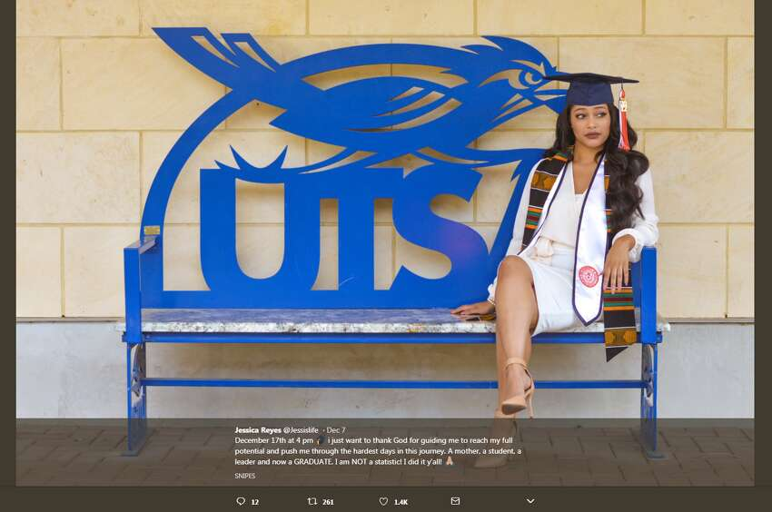 Jessica recently graduated from UTSA with a bachelors of science in kinesiology with a minor in business administration Jessica told mySA.com she had her baby at 18, during her first semester of college. Stressed with finances tied to college and being a young mom, she nearly dropped out of school.