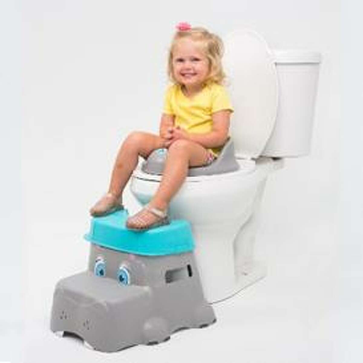 Squatty Potty is recalling about 2,400 children's toilet step stools because the top removable step which looks like a hat can detach while a child is standing on it, posing a fall hazard. Photo courtesy of the Consumer Product Safety Commission.