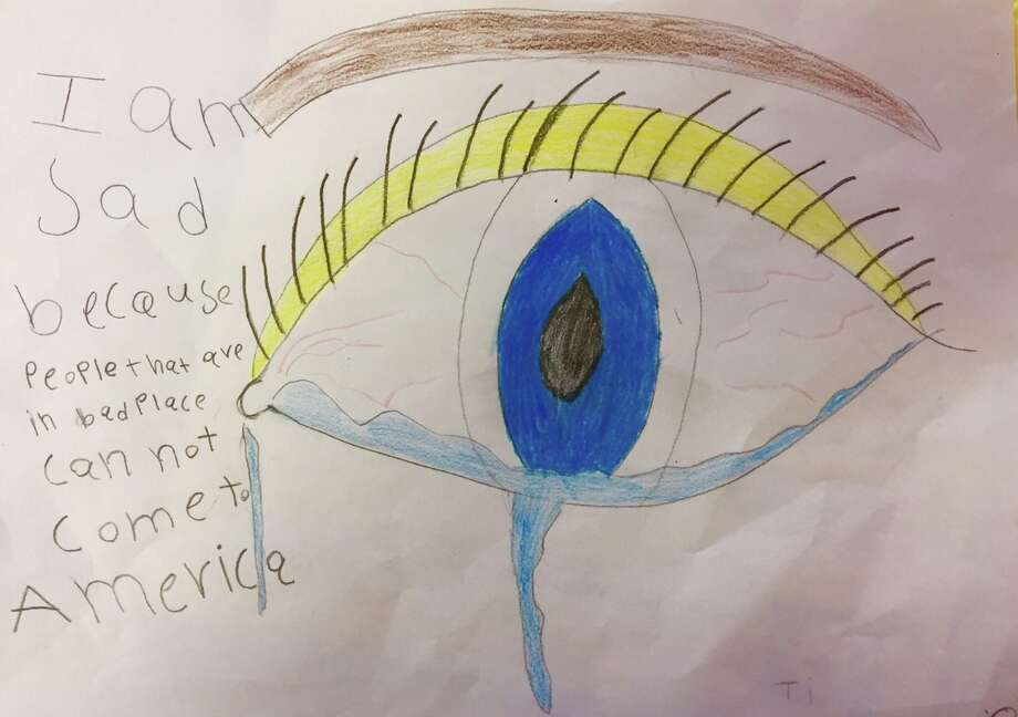 Art work is featured from a Baker Ripley Community Schools fifth-grade student. Photo: Baker Ripley Community Schools