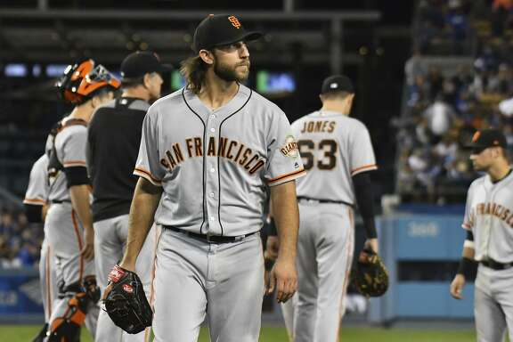 Madison Bumgarner has been a workhorse, but will the Giants follow baseball's trend of reducing innings for starters?