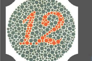 Standard vision: 12  Weak red-green vision: 12