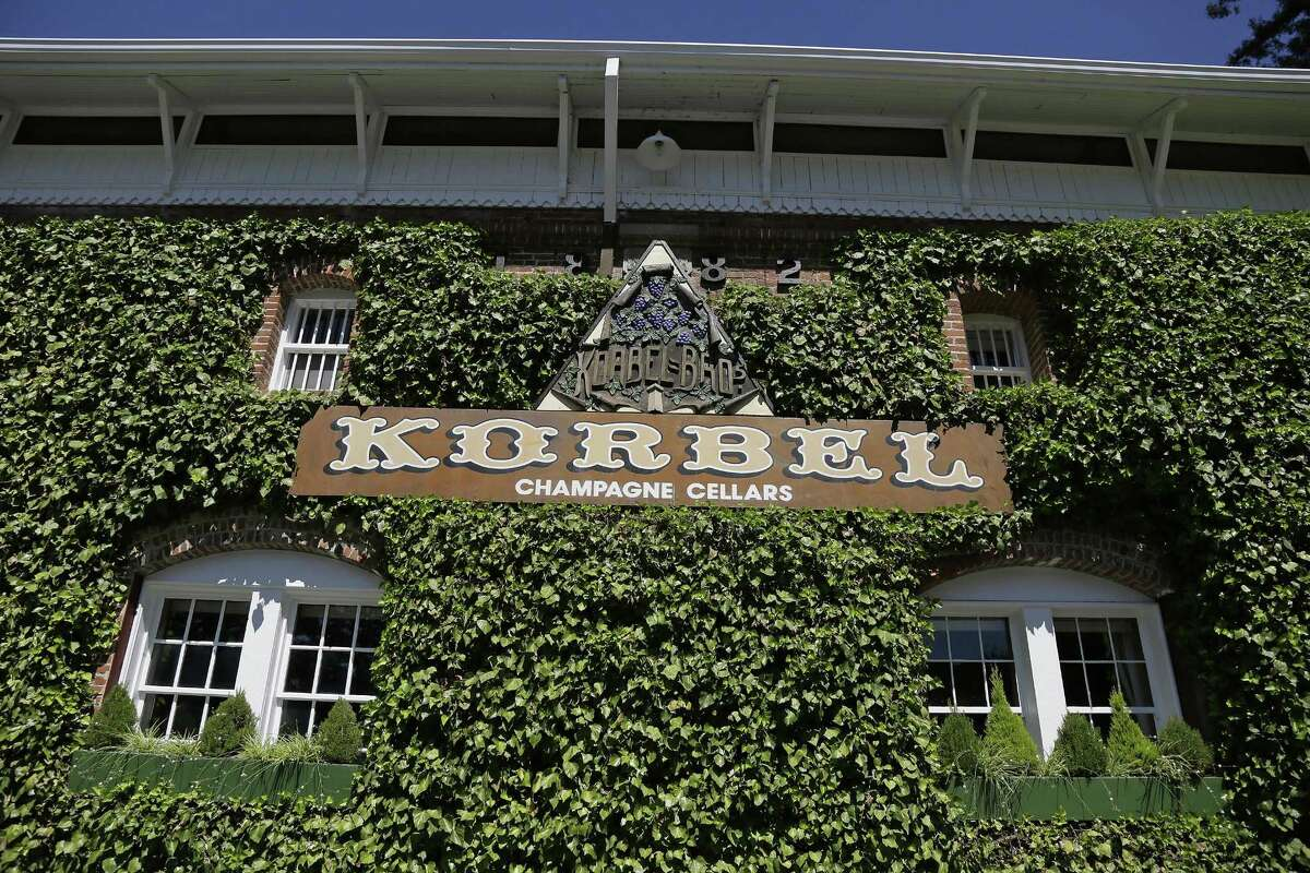 """The historic ivy-covered winery building at Korbel Champagne Cellars in Guerneville. """"Everyone stands to gain"""" from the wine tax credit contained in the federal tax bill, according to Margie Healy, a spokeswoman for the winery."""
