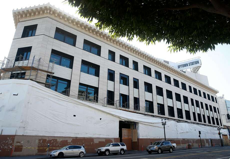 Oakland's Uptown Station opened as the H.C. Capwell department store in 1927. Uber bought the nearly square-block building for $123.5 million in 2015 intending to create an East Bay headquarters for thousands of workers. Photo: Paul Chinn, The Chronicle