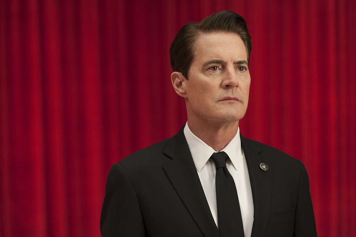 """This image released by Showtime shows Kyle MacLachlan from the revival of """"Twin Peaks."""" MacLachlan was nominated for a Golden Globe award for best actor in a limited series or motion picture made for TV on Monday, Dec. 11, 2017. The 75th Golden Globe Awards will be held on Sunday, Jan. 7, 2018 on NBC. (Suzanne Tenner/Showtime via AP)"""