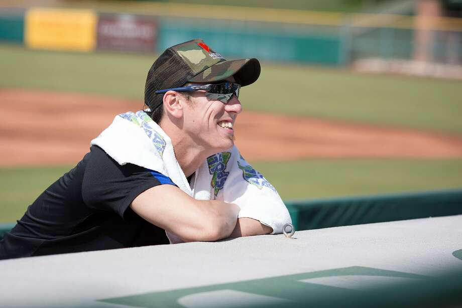 Former San Francisco Giants pitcher Tim Lincecum after his pitching showcase May 6 at Scottsdale Stadium in Scottsdale, Ariz. Photo: Caitlin O'Hara, Special To The Chronicle