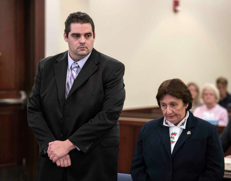 "Edward ""Ted"" Mero, left, with his attorney, Cheryl Coleman, listens to the jury's verdict which convicted him in Albany County Court for the murder of two women on Tuesday, Dec 19, 2017, in Albany County Court in Albany, N.Y.  (Skip Dickstein/ Times Union) Photo: SKIP DICKSTEIN"