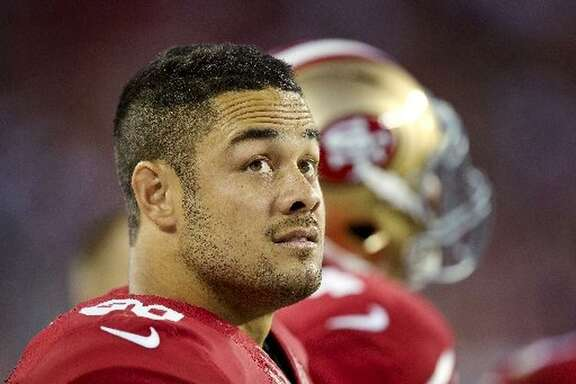 Jarryd Hayne, a former player for the San Francisco 49ers, watches the end of a preseason game from the sidelines against the Dallas Cowboys on August 23, 2015 at Levi's Stadium in Santa Clara, California.