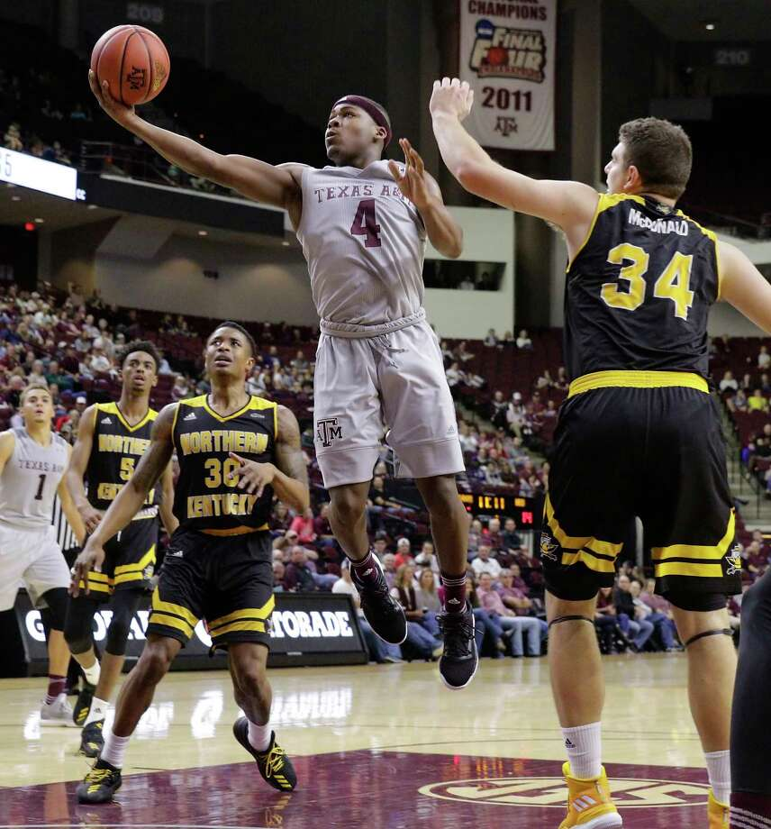 With several key players missing for Texas A&M, guard JJ Caldwell (4) could play a bigger role when the Aggies play host to Florida Tuesday night. Photo: Michael Wyke, Associated Press / © Associated Press 2017