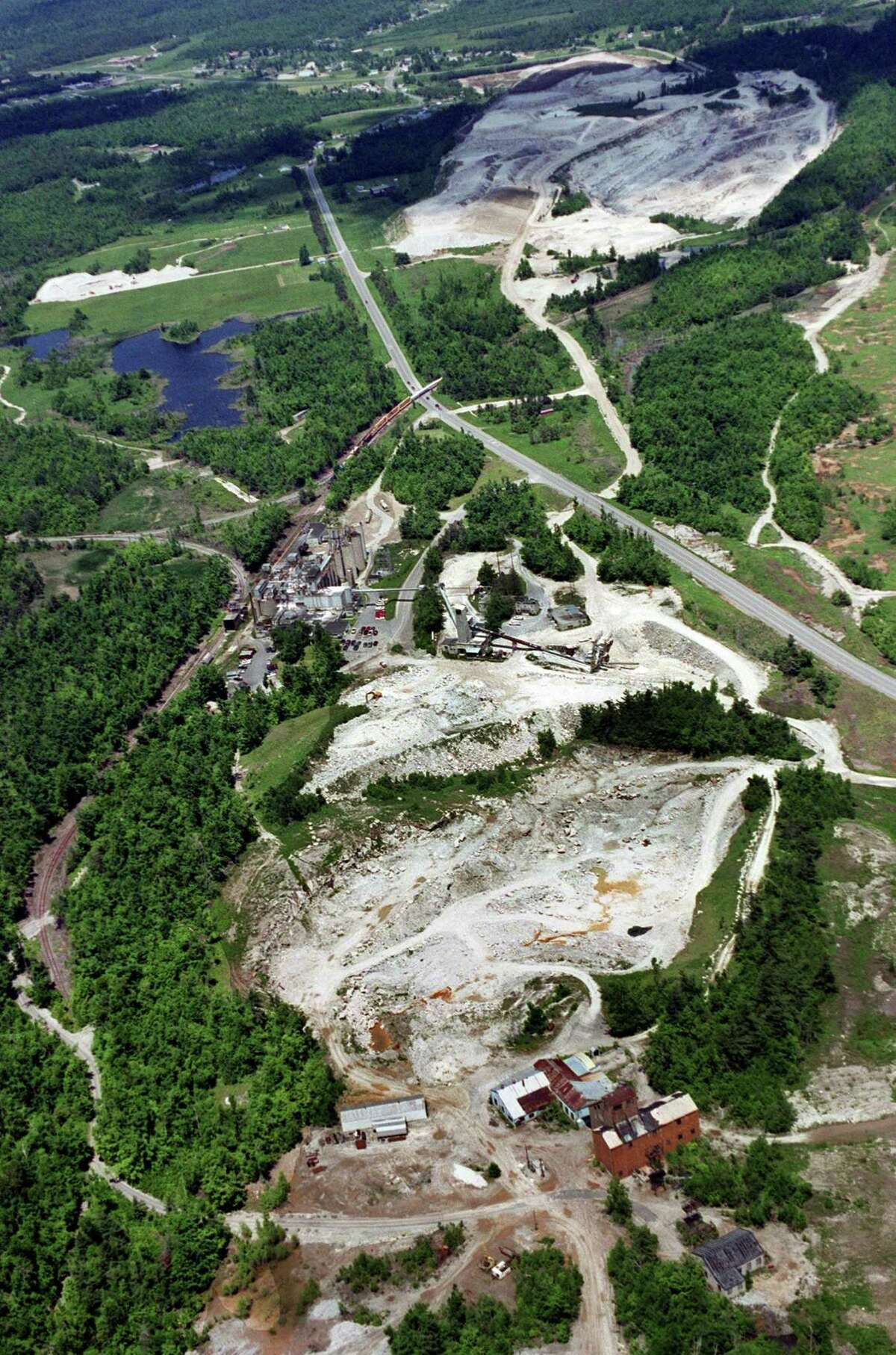 A file photo of the Gouverneur Talc quarry in upstate New York, formerly operated by a subsidiary of R.T. Vanderbilt Co.