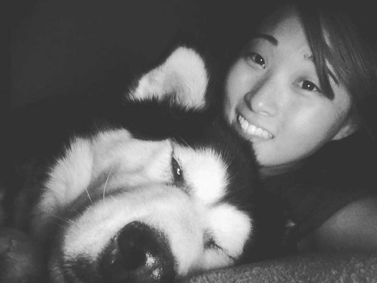 Danielle Balzer and her Alaskan malamute, Mollie, before she went missing in August. (Photo courtesy of Danielle Balzer)