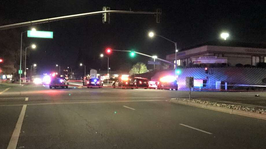 Police in Vacaville shot and critically wounded a man suspected of stabbing two of his family members and leading officers on a chase that ended in a crash.