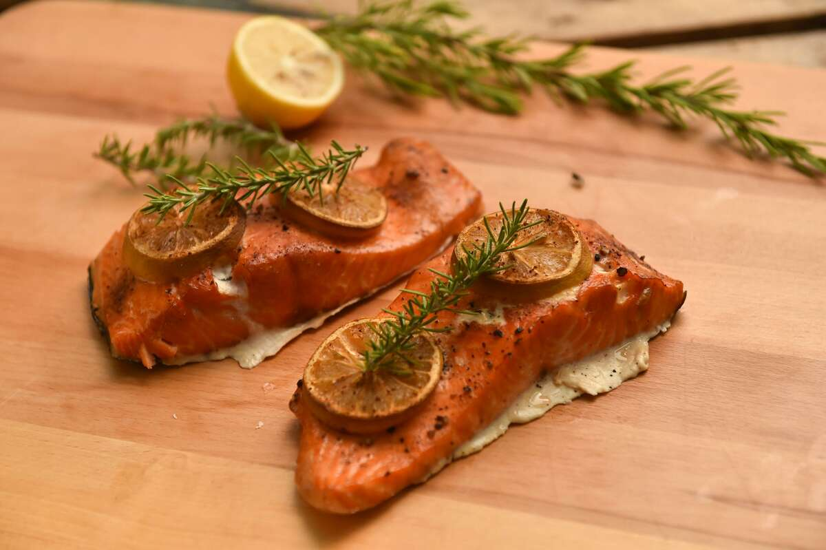 """Chuck's Easy Smoked Salmon Chuck Blount is all about the brisket, but that doesn't stop the occasional fish from swimming into his smoker. Blount kicked off his """"Chuck's Cook Shack"""" column with this refined take on smoked salmon. Click here for recipe."""