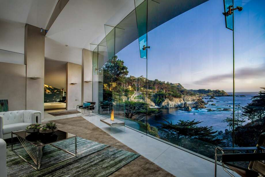 A stunning modern masterpiece built in 2017 right on the Ocean in Carmel-by-the-Sea is on the market for $11.4 million. Photo: Wayne Capelli