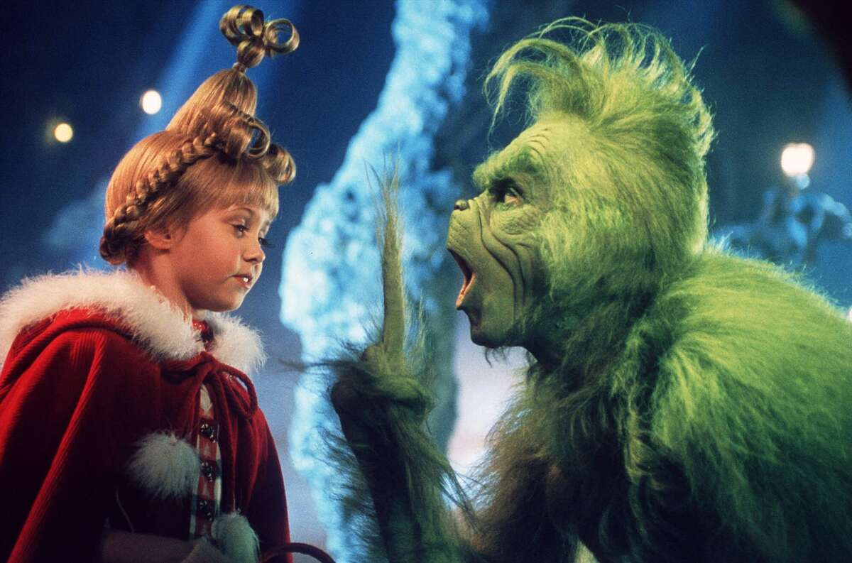 """How the Grinch Stole Christmas (2000) Rotten Tomatoesscore:53% IMBDdescription:""""On the outskirts of Whoville, there lives a green, revenge-seeking Grinch who plans on ruining the Christmas holiday for all of the citizens of the town."""" Available on:Netflix YouTube trailer"""