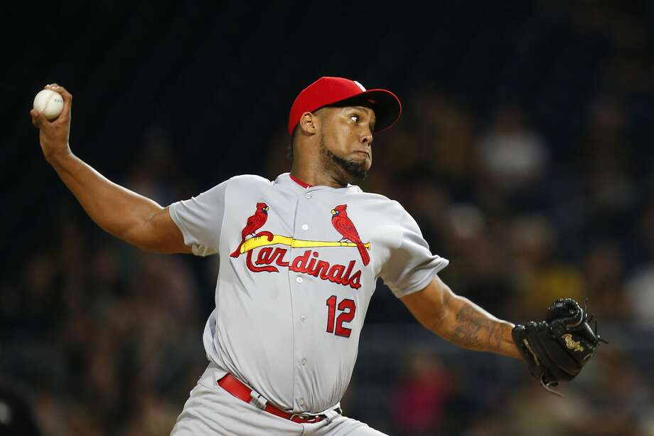 PITTSBURGH, PA - SEPTEMBER 22:  Juan Nicasio #12 of the St. Louis Cardinals pitches in the ninth inning against the Pittsburgh Pirates at PNC Park on September 22, 2017 in Pittsburgh, Pennsylvania.  (Photo by Justin K. Aller/Getty Images) Photo: Justin K. Aller/Getty Images